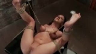 BDSM Teen Tied And Suspended With Her Nipples