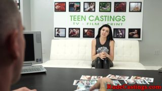 Screaming teen hardfucked at ### casting