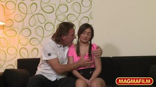 Shy German Teen Casting by old creepy guy