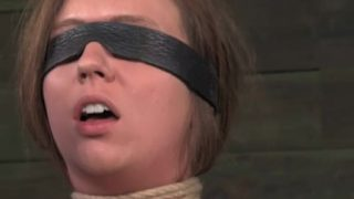 Blindfolded bdsm sub penalized by dom