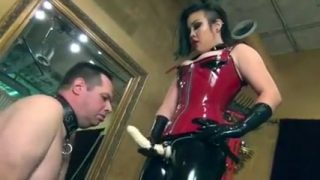Fabulous amateur Strapon, Latex xxx scene