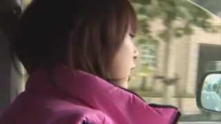 Hottest Japanese girl Junko Hayama in Fabulous Car, Outdoor JAV video